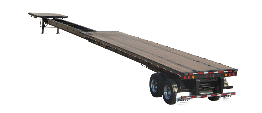 Fb53902a S 53 To 90 Foot Extendable Flatbed Trailer